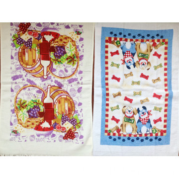 100% cotton velvet pringting kitchen towel